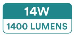 24V Single Colour COB LED Strip Lights (528 SMD, 14W, 1400 Lumens)