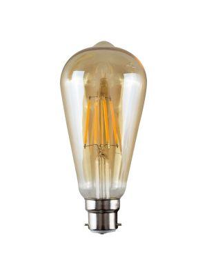 B22 4W LED Filament Pear Shaped Bulb Amber (Warm White 3000K)