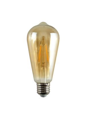 E27 4W LED Filament Pear Shaped Bulb Amber (Warm White 2700K)