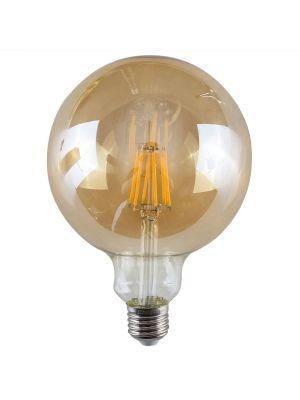 E27 6W LED Filament Giant Globe Bulb Amber (Warm White 2700K)