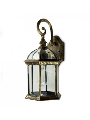 Vintage Black-Golden Outdoor Wall Lantern