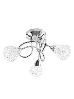 Astley 3 Way Cross Over Chrome LED Ceiling Light K5 Crystal
