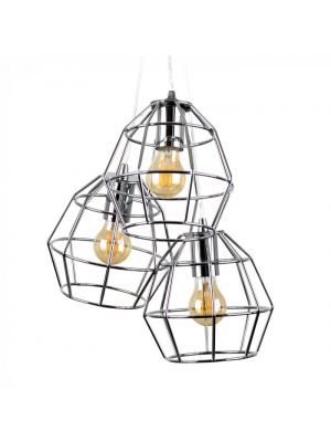 Angus 3 Way Basket Ceiling Electric Pendant