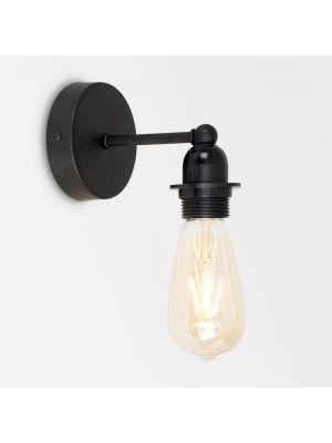 Cambourne Matte Black 1 Way Steampunk Wall Light (No Shades)