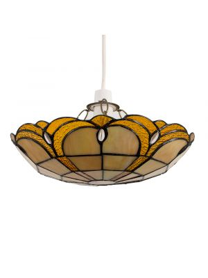 Jewel Tiffany Non Electric Uplighter Amber