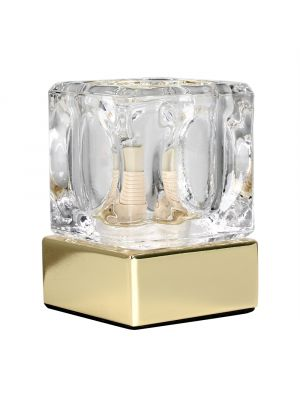 Gold Ice Cube Touch Table Lamp