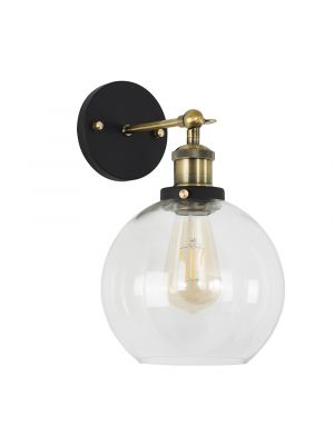 Sheridan Steampunk Wall Light with Clear Glass Shade