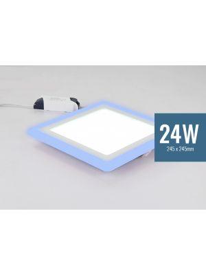 Lotus 24W Square Blue Edge Lit LED Panel Light