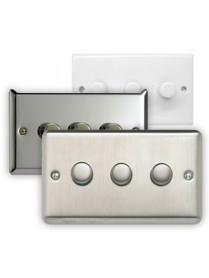 Varilight 3 Gang 2 Way LED Dimmer Switch (V-Pro & V-Com)