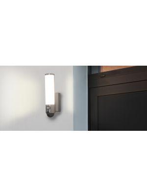 Elara IP54 Outdoor Wall Light with built in Mic, Speaker, PIR & Camera
