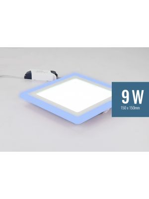 Lotus 9W Square Blue Edge-Lit LED Panel Light