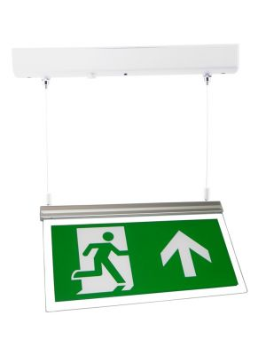 LED Exit Sign Light Surface Mount c/w Arrow Up Legend