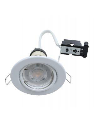 EcoSpot+ Hoop Downlight Steel GU10 Tilt White