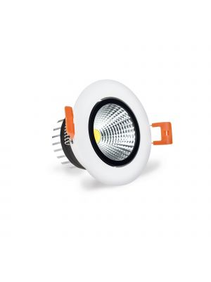 LuxSpot 3W Recessed LED COB Downlight Tilt, 230 Lumens