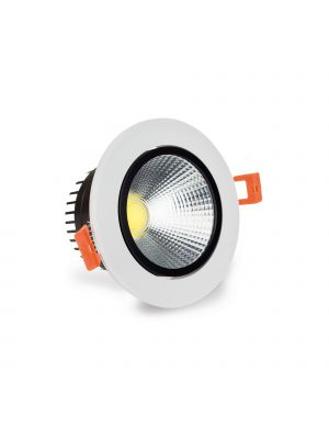 LuxSpot 7W Recessed LED COB Tilt Downlight, 550 LM