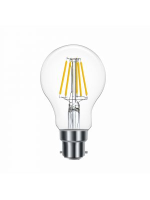 OMNIPlus Dimmable B22 6W OMNI-LED Bulb, Clear Globe