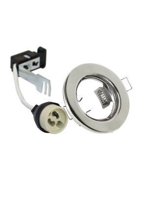 EcoSpot+ Hoop Downlight Steel GU10 Fixed Chrome