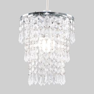 3 Tier Clear Acrylic Droplet NE Pendant Shade (Shade Only)