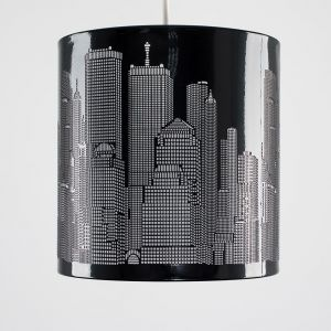 Skyline Cut-Out Black NE Pendant Shade (Shade Only)