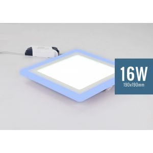 Lotus 16W Square Blue Edge Lit LED Panel Light