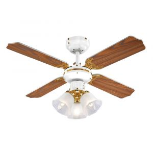 Hawker White & Polished Brass 36