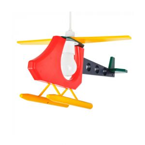 Children's Multi Coloured Helicopter KD 3D Pendant Shade (Shade Only)
