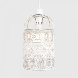 Avis Shabby 'n' Chic Birdcage NE Pendant With Clear Beads (Shade Only)