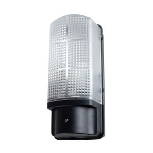 DTECT IP44 Black Dusk Till Dawn Sensor Bulkhead Wall Light