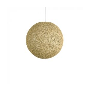 Bjorn Medium Cream Rattan Pendant