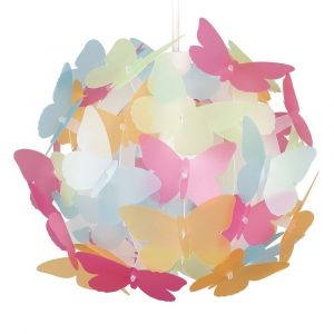 Multi Coloured Butterfly Ball NE Pendant Shade (Shade Only)