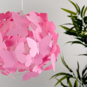 Pink Butterfly Ball NE Pendant Shade (Shade Only)