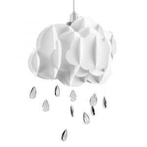 Children's White Cloud & Rain Drops NE Pendant Shade (Shade Only)