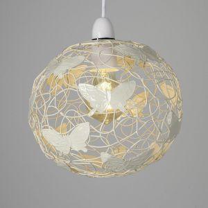 Cream Lattice Wire Butterfly Ball NE Pendant Shade (Shade Only)