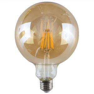 E27 6W LED Filament Giant Globe Bulb Amber (Warm White 2700K)