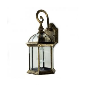 Vintage Black-Golden Outdoor Wall Lantern