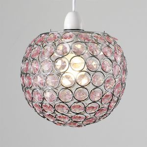 Small Ducy Chrome/Pink NE Pendant Shade (Shade Only)