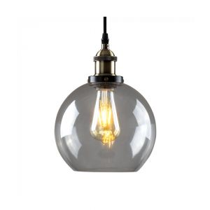 Sheridan Steampunk Electric Pendant Clear Glass Shade