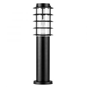 Grated Black Outdoor LED Bollard Light