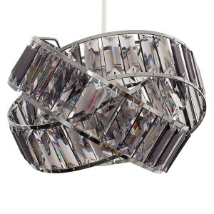 Hudson Intertwined Non Electric Pendant Chrome / Smoked Grey