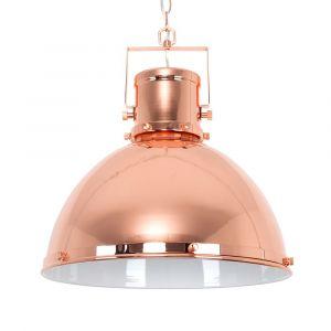 Dorian Copper Retro Dome Shade Ceiling Light