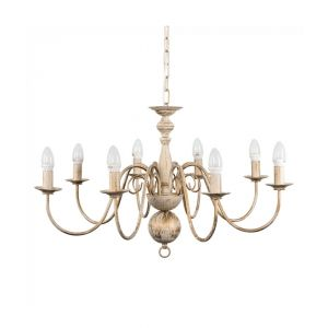 Gothica Flemish Style 8 Way Celling Light Distressed White