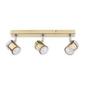 Rosie 3 Way Straight Bar Spot Light Chrome / Gold