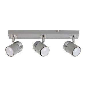 Rosie 3 Way Straight Bar Spot Light Chrome / Grey