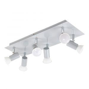 Consul Grey 6 Way Rectangular Plate Spotlight