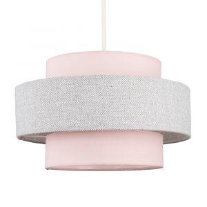 Weaver Pink & Grey Herringbone NE Shade