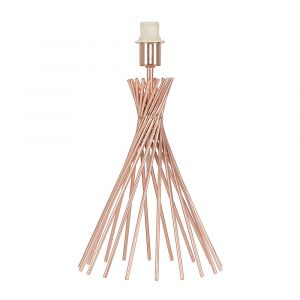 Gosforth Twist Copper Table Lamp (NO SHADE)
