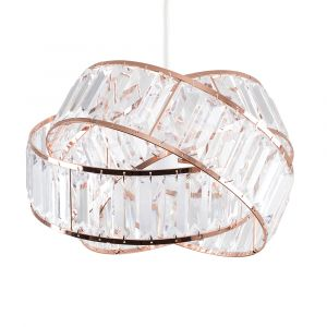 Hudson Copper/Clear Intertwined NE Pendant (SHADE ONLY)