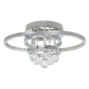ICONIC 46W Sapporo Crystal Double Loop LED Ceiling Light