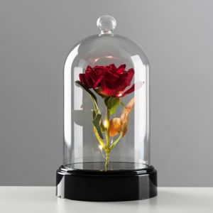 Battery Operated Rose Dome Table Lamp