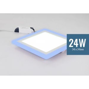 Lotus 24W Square Blue Edge Lit LED Panel Light